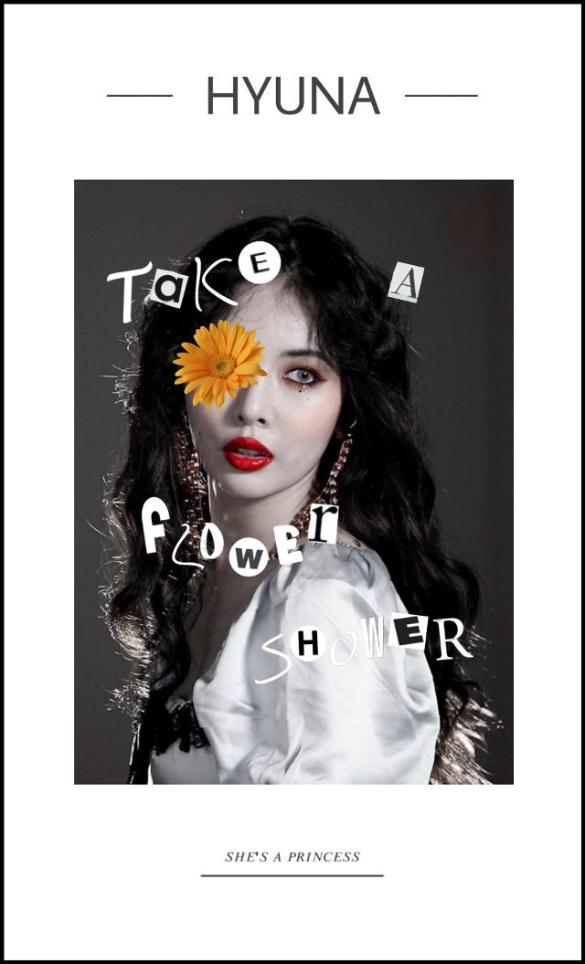 Hyuna// _ _ #freetoedit #hyuna #kimhyuna #cute #poster #magazine #cover #wallpaper #white #flower #kpop #k-pop #edawn #4minute #flowershower #kpopedit  _ _ Credits: