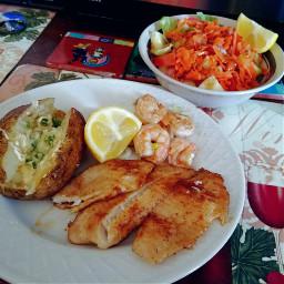 food foodphotography fish shrimp bakedpotato