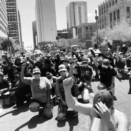 blacklivesmatter myphoto blackandwhite photography protest freetoedit
