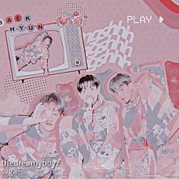 baekhyun exo superm pink soft freetoedit