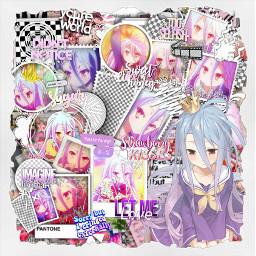 freetoedit shiro shironogamenolife nogamenolife anime