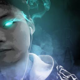 freetoedit gaming smokeeffect kira glowingeyes