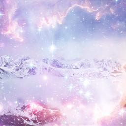 mountains snow galaxy wonderland wonderful freetoedit