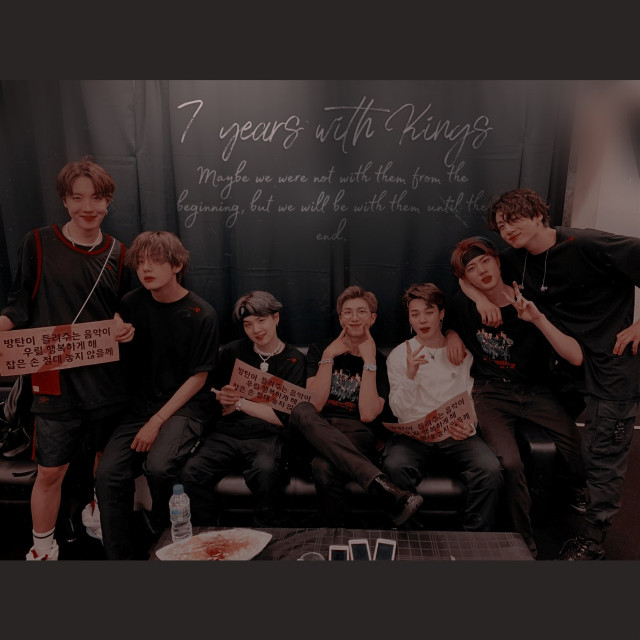 7 years with Kings ,maybe we were not with them from the beginning, but we will be with them until the end -my english Zzzzz- 😍💜    #bts #7years #bangtan #kpop #army #armys @a_azra  #freetoedit