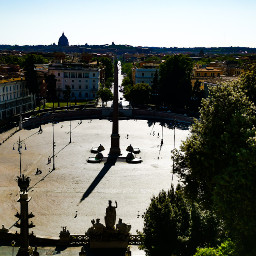 rome piazzadelpopolo nopeople lockdown pincio