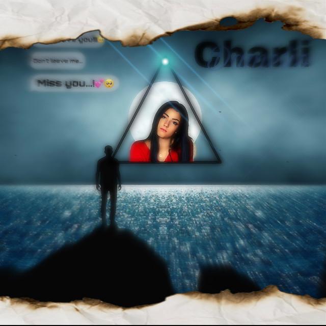#freetoedit #charlie #moonlight #moon #bubbletext #triangle #lenseflair #nameaesthetic