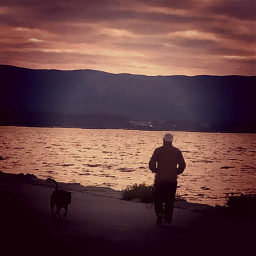walkingalone walking paseos sunset puestadesol