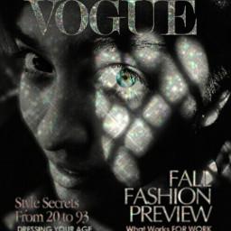 vogue voguemagazine face glitter eye freetoedit