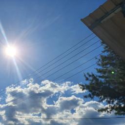 korea sunshine sky blue freetoedit