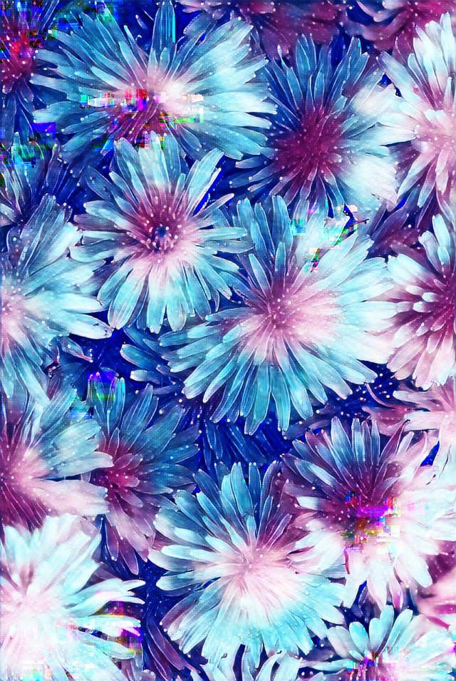 🌌🌌🌌  #galaxy #blue #sparkle #glitter #glitch #flowers