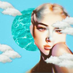 aesthetic freetoedit blue cloud fotoedit ecsummeraesthetic summeraesthetic
