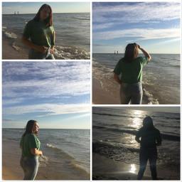 beach sun sunset michigan lakemichigan