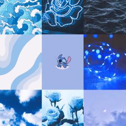 blue aesthetic collage blueaestheticcollage freetoedit