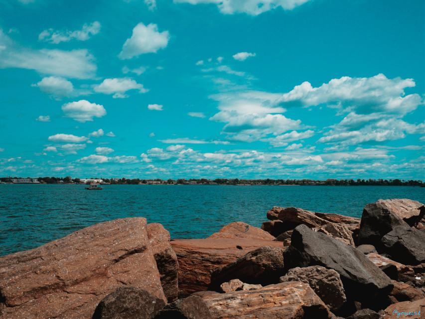 #coastline#hellosummer#saltwater#sky#cyan#clouds#addyourstickers #freetoedit