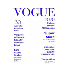 freetoedit blue vogue 2020 magazine