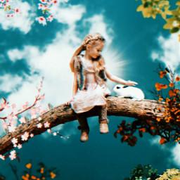 freetoedit girl imagination awesome branch