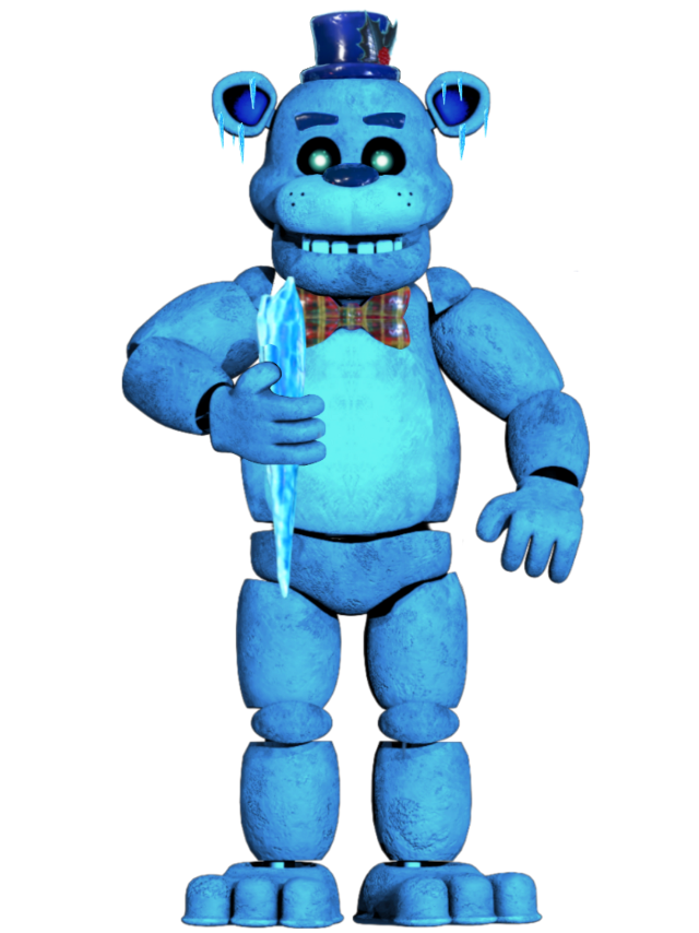 Jeez, it is finally done! Here we got my version of Freddy Frostbear!  Do whatever the hell pit you want with this :)  #fnafedit #fnafar #fnaf #freddy #frostbear #ice #blue #icy #freddyfrostbear #freetoedit