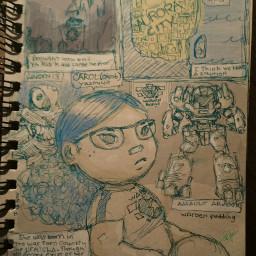 drawing art cartoon pudding superhero freetoedit