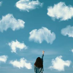 freetoedit clouds cloud sky blue