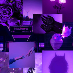 thelyann aesthetic background violet