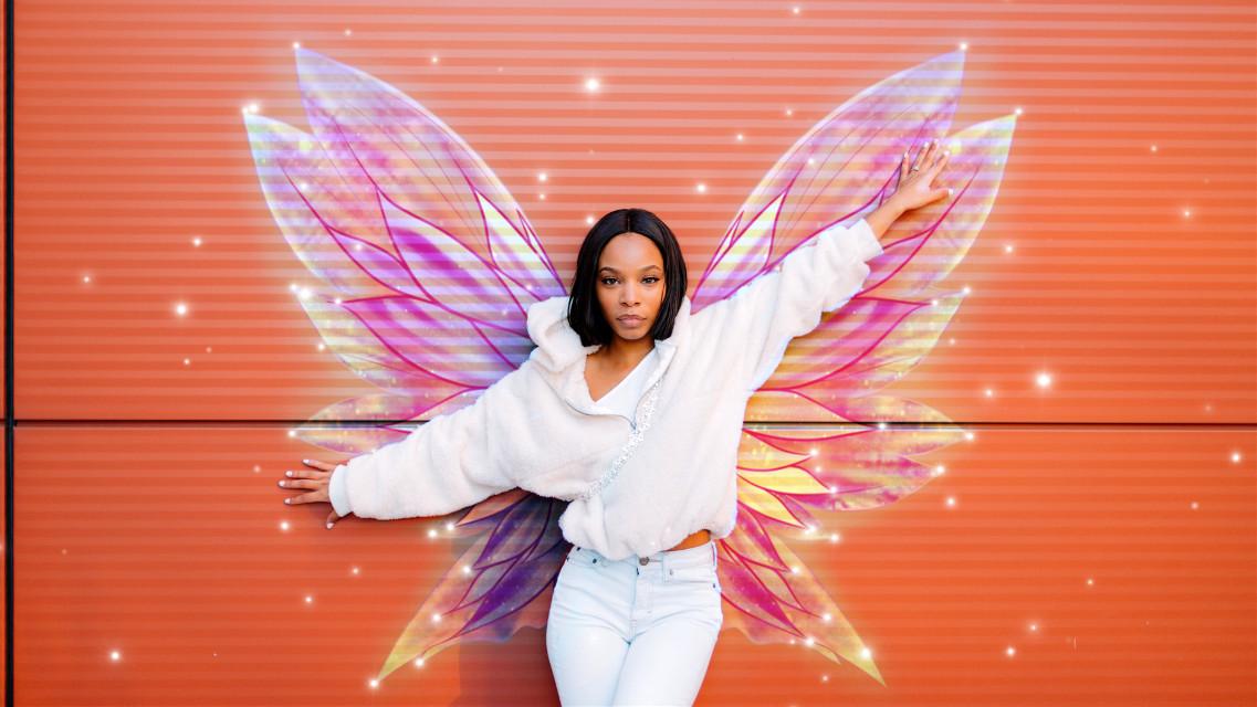 #freetoedit #madewithpicsart #editedbyme #wings #picsartpicks #artsy #girl #people