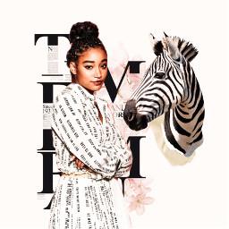 collage amandlastenberg amandla zebra collageedit freetoedit