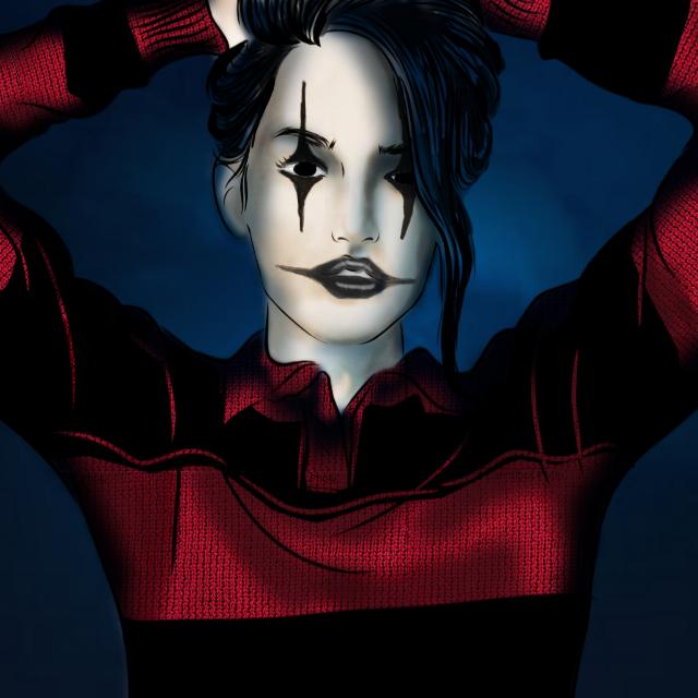 #freetoedit  #colorpaint #ircoutlinegirl #outlinegirl #gothic #goth #crowmakeup #thecrow #colorapp #portrait #portraitdrawing #portraitedit