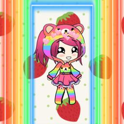 freetoedit gachalife cute rainbow rillakkuma