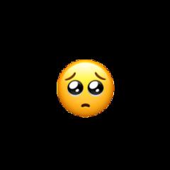 iphone emoji shy sadeyes sad