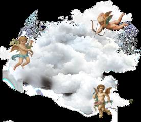 freetoedit sticker angel clouds aesthetic