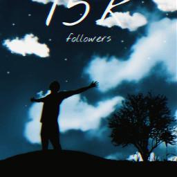 freetoedit 15k followers silhouette sky