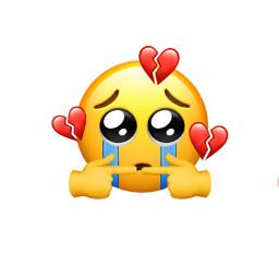 freetoedit sad emoji iphone brokenheart