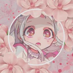 freetoedit edit anime flowers pink