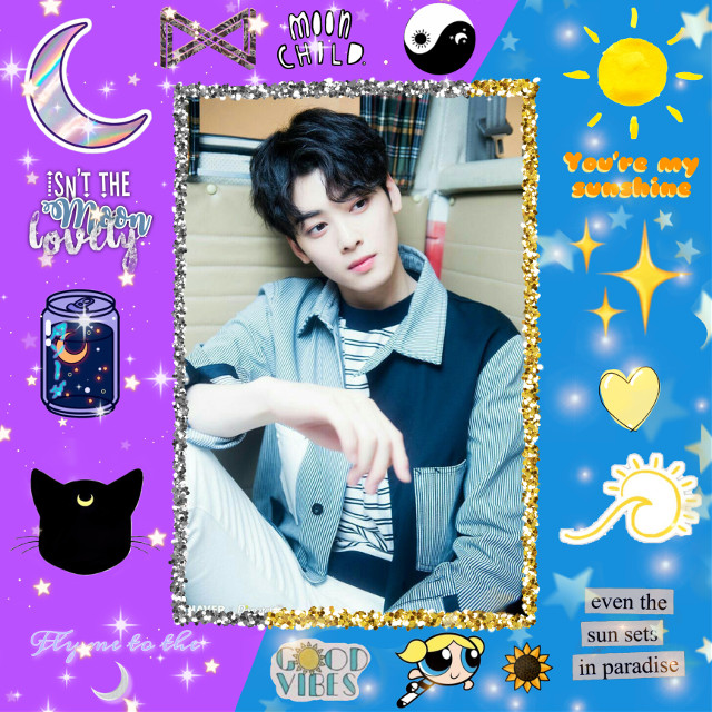 So since I really want something to do during quarentine, I'm entering @juyeons_clumsiness 's contest *jazz hands*. The theme was sun and moon and like idk how I did lol. I kinda like the two different theme look. Anywho, hippity hoppity stream Cloud 9 by Cravity. Peace.   #freetoedit #sunandmooncontest #sunandmoon #aesthetic #sunaesthetic #moonaesthetic #kpop #kpopedit #astro #astrokpop #astroeunwoo #eunwoo #eunwoo #astrodongmin