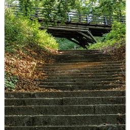 stairs bridge myberlin park green freetoedit