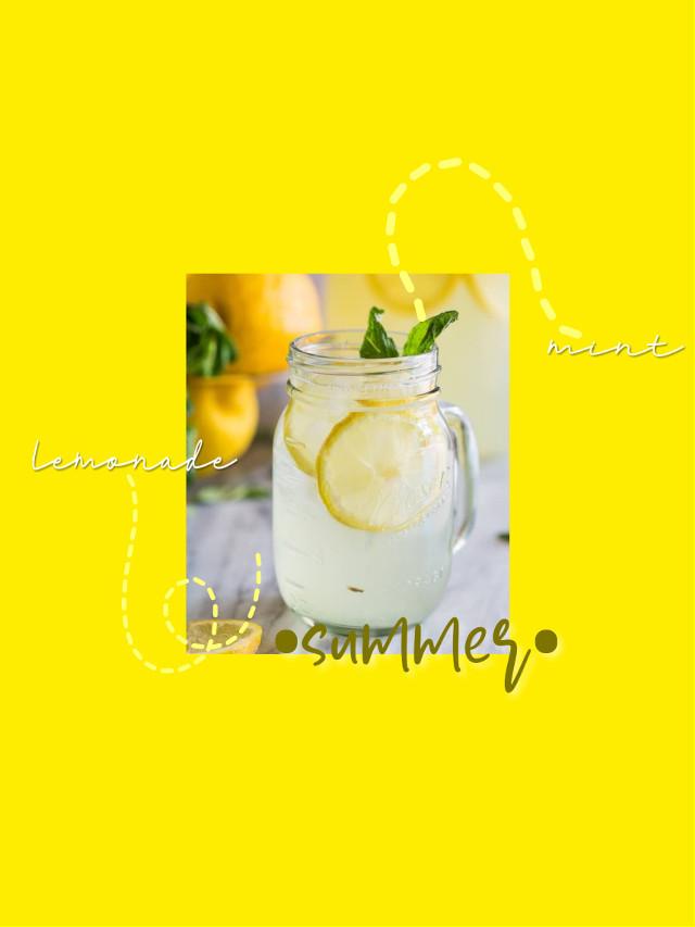 #freetoedit #summer #lemonade #mint #yellow