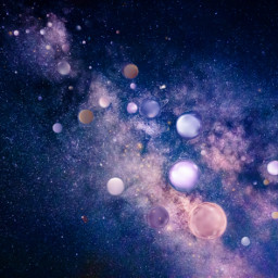 freetoedit galaxy space planets blue