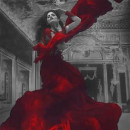 freetoedit girl red reddress redgown eccolorpop colorpop colorsplash