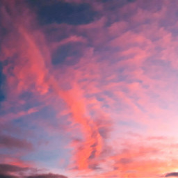 freetoedit clouds pinkclouds skylover sunset