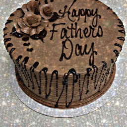 freetoedit happyfathersday text chocolate cake
