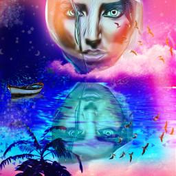 freetoedit remix picsart reflection mirroring