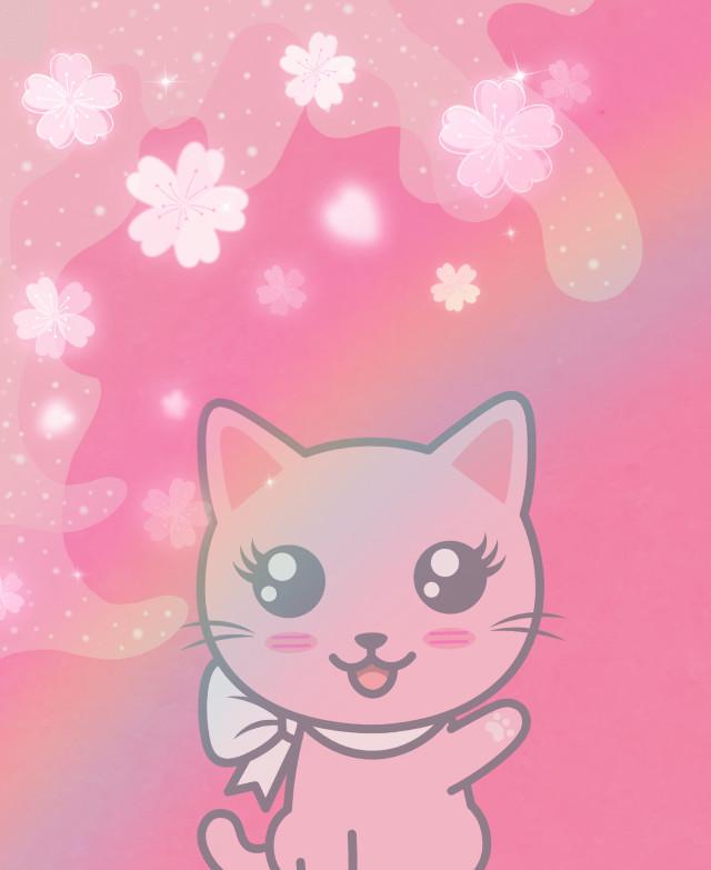 KITTIES!!!!!!!!!!!! #pink #kittycuddles #interesting #cute #animals #anime #cartoony #aborbs #loveit @miamiadia  #freetoedit