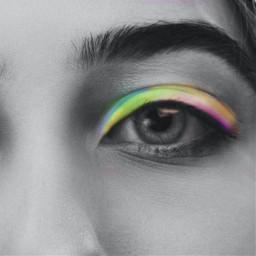 eyeshadow makeup pride rainbow rainbowmakeup