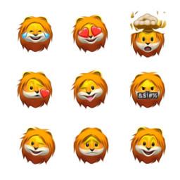freetoedit animoji lion apple