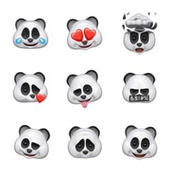 freetoedit animoji panda apple
