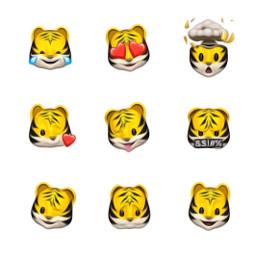 freetoedit animoji tiger apple