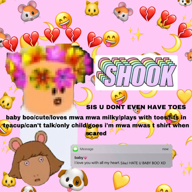 #freetoedit baby boo xD