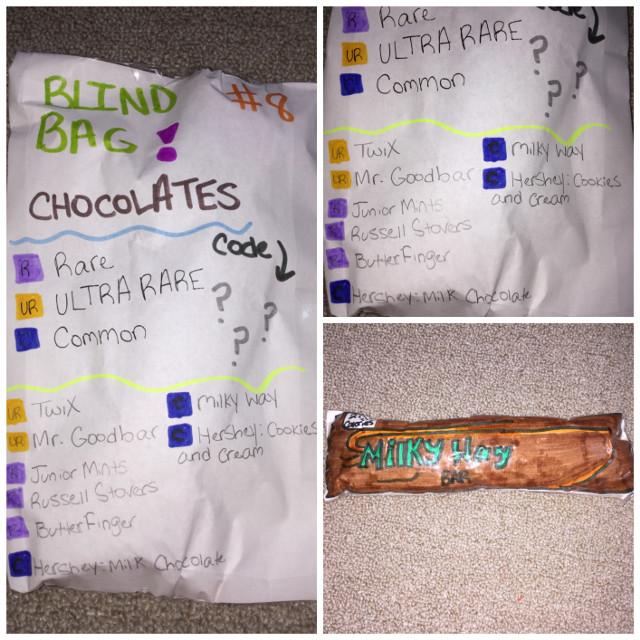 𝔹𝕝𝕚𝕟𝕕 𝔹𝕒𝕘 #8  𝙼𝚒𝚕𝚔𝚢 𝚆𝚊𝚢:Cᴏᴍᴍᴏɴ 🍫    TᕼIᔕ Iᔕ Tᕼᗴ ᒪᗩᔕT ᗷᒪIᑎᗪᗷᗩᘜ!!        #freetoedit #papersquishy #chocolate #milkyway
