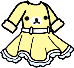 Gacha dress : yellow rillakkuma bear 💛✨ this is part of a incomplete matching set! Go to my profile for more #gacha #gachalife #freetoedit
