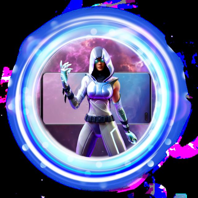 Fortnite Glow Skin w/ Phone and Galaxy background Logo Template FTU #fortnite #fortnitelogo #freetoedit #logo #galaxy
